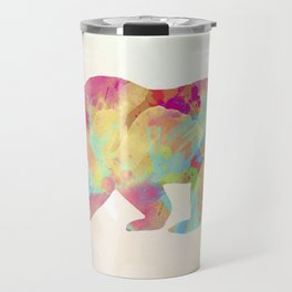 Abstract Bear Travel Mug