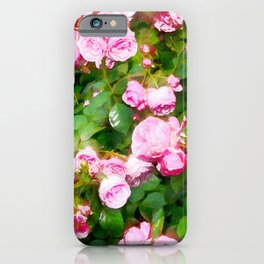 Pink Summer Roses iPhone Case