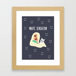 White Sensation Framed Art Print