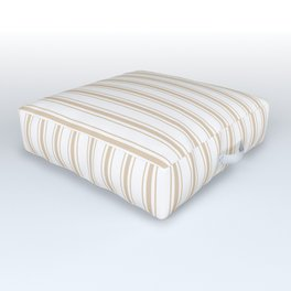 Almond Baby Camel Mattress Ticking Wide Striped Pattern - Fall Fashion 2018 Outdoor Floor Cushion