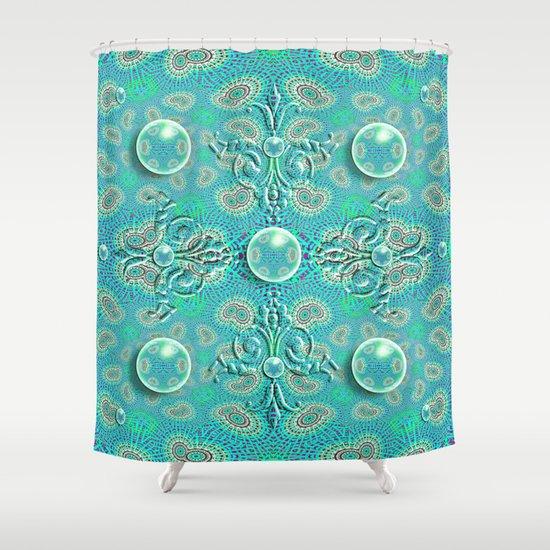 Royal Orbs Shower Curtain