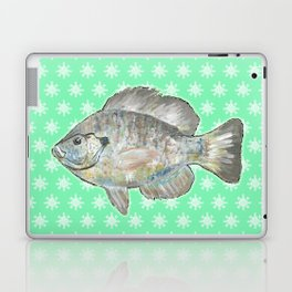 Bluegill and Green Wallpaper Design Laptop & iPad Skin