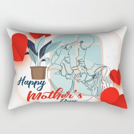 Happy mother's day print mothers day cards happy mothers day card mother day wishes mothers day gift Rectangular Pillow