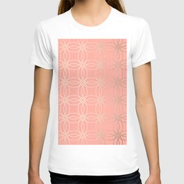 Simply Vintage Link in White Gold Sands and Salmon Pink T-shirt