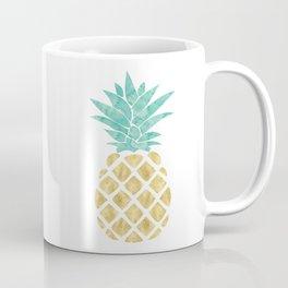 Gold Pineapple Coffee Mug