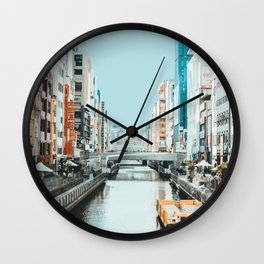 Osaka, Japan Travel Artwork Wall Clock