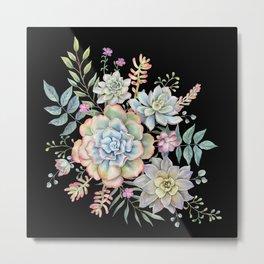 Watercolor Succulents #98 Metal Print