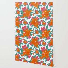 """""""Vivid Colors Tropical Classic Floral"""" Wallpaper"""