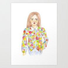 The colourful shirt Art Print