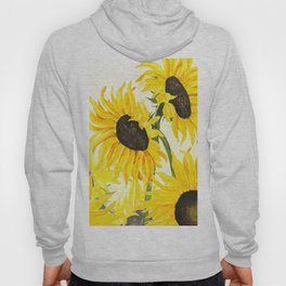 sunflower watercolor 2017 Hoody