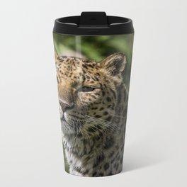 Leopard Metal Travel Mug