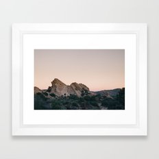 Sunset Over Desert Vasquez Rocks Framed Art Print