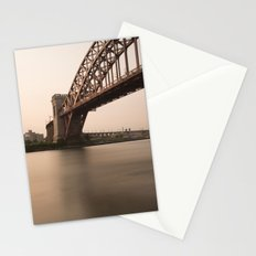 Hell Gate Bridge (NYC) at Sunset Stationery Cards