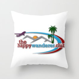 The Happy Wanderer Club Throw Pillow