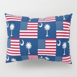 Mix of flag: Usa and south carolina Pillow Sham