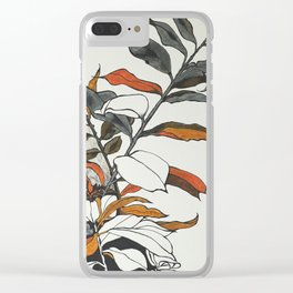70s flowers Clear iPhone Case