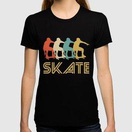 Skater Retro Pop Art Skateboarding Graphic T-shirt