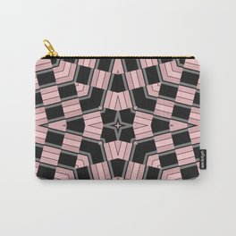Black and pink geometric pattern Carry-All Pouch