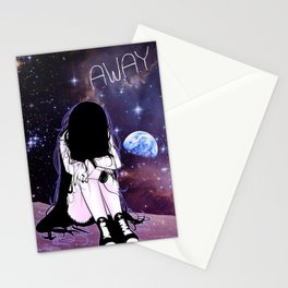 Gone away girl Stationery Cards