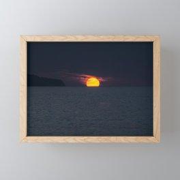 Portugal Sunset Landscape Framed Mini Art Print