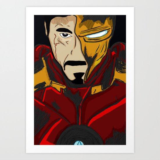 Iron Man 3 (Tony Stark) Art Print