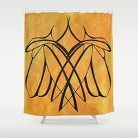 lesbian Shower Curtains featuring Together Lesbian Love by taiche