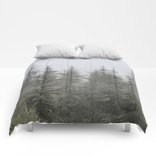 """Foggy forest"". Retro series. Comforters"