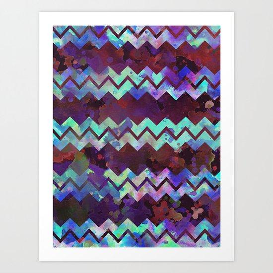 Chevron Pop Art Print
