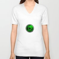 green lantern V-neck T-shirts featuring Green Lantern by Thorin