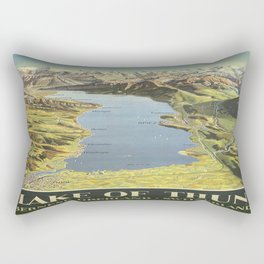 Vintage poster - Lake of Thun Rectangular Pillow