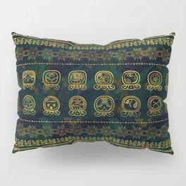 Maya Calendar Glyphs pattern Pillow Sham