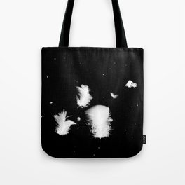 Goose feathers floating Tote Bag
