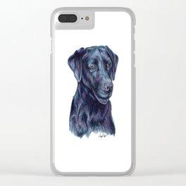 Black Labrador Retriever - Dog Portrait Clear iPhone Case