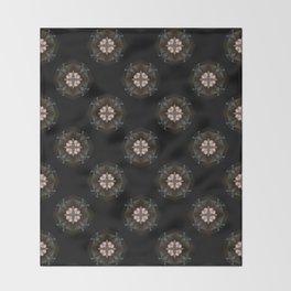 Beige Cross Flower Pattern Throw Blanket