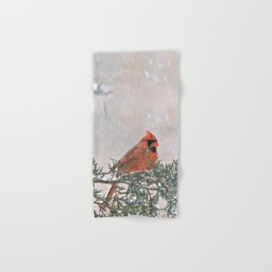 Snowfall Cardinal Hand & Bath Towel