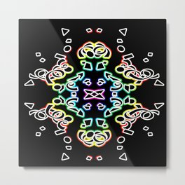Multi colored symmetry Metal Print