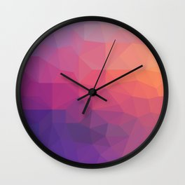 Sunset Low Poly Wall Clock