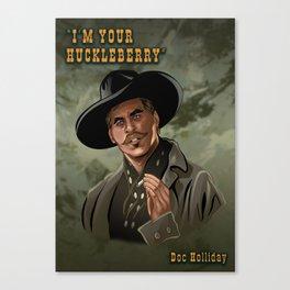 Doc Holliday - Val Kilmer Canvas Print