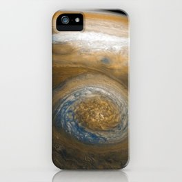 Jupiter's Great Red Spot from Junocam (2017) iPhone Case