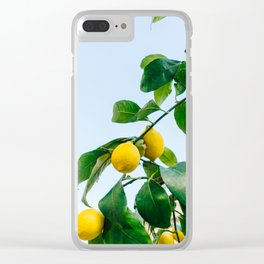 Amalfi Coast Lemons III Clear iPhone Case