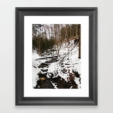 Downhill Stream  Framed Art Print