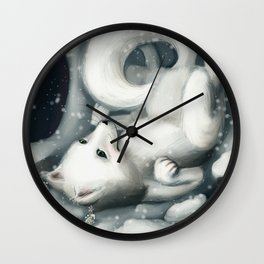 A Fox Who Lost His Crown Wall Clock