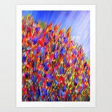 wild flowers/abstract Art Print