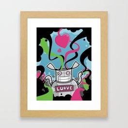 Lurve Bot Framed Art Print