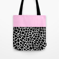 British Mosaic with Pink Boarder Tote Bag