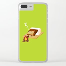 Sleeping S'more Clear iPhone Case