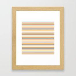Retro Stripes Framed Art Print