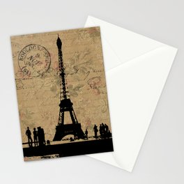 EIFFEL TOWER FRENCH COLLAGE Stationery Cards