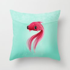 Little Fish Coy Koi Throw Pillow