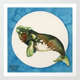 Friend of Seagulls, Right Whale in the Wrong Place Art Print